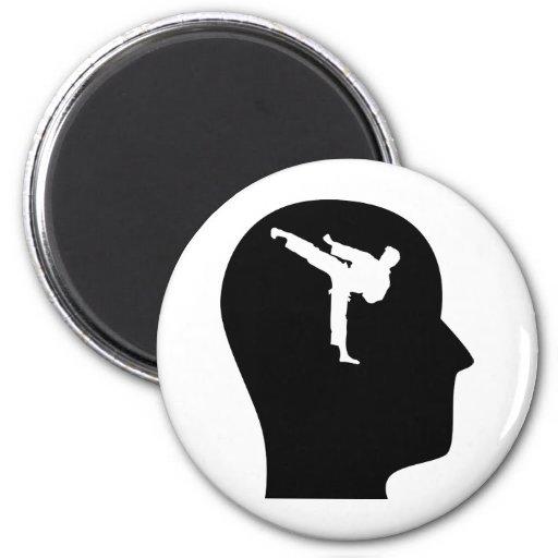 Pensamiento en artes marciales imán redondo 5 cm
