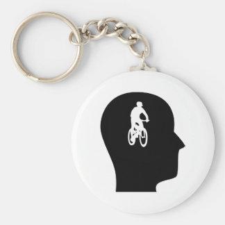 Pensamiento en Biking de la montaña Llavero
