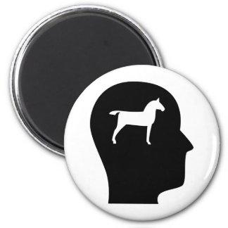 Pensamiento en caballos imán redondo 5 cm