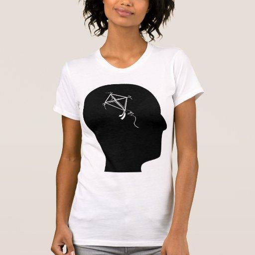 Pensamiento en cometas camiseta