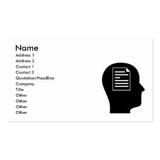 Pensamiento en corregir tarjeta de negocio