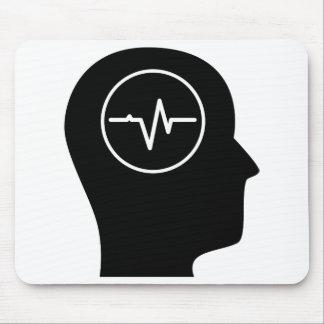 Pensamiento en EEG Alfombrillas De Ratón