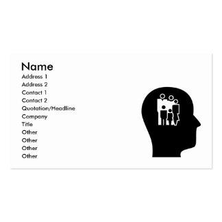 Pensamiento en el asesoramiento tarjetas de visita