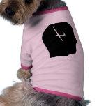 Pensamiento en el deslizamiento camisa de perrito