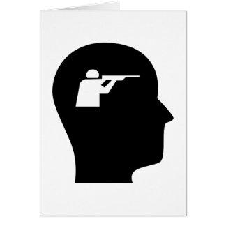 Pensamiento en el tiroteo tarjeta de felicitación
