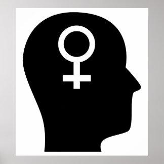Pensamiento en feminismo poster
