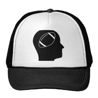 Pensamiento en fútbol gorras de camionero