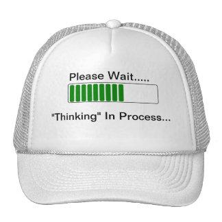 Pensamiento en gorra divertido de proceso de la ci