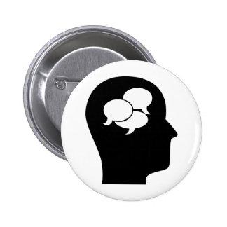 Pensamiento en idiomas pin redondo 5 cm