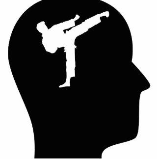 Pensamiento en karate esculturas fotográficas