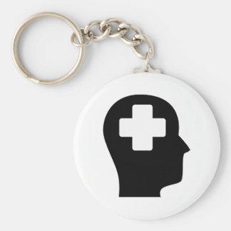 Pensamiento en la ayuda médica llaveros