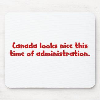 Pensamiento en la mudanza a Canadá Mouse Pads
