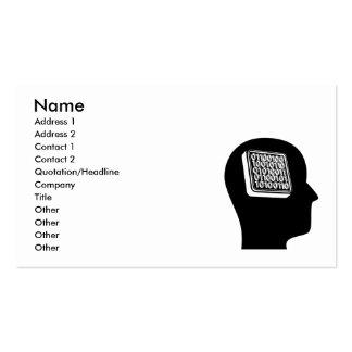Pensamiento en la programación tarjetas de visita