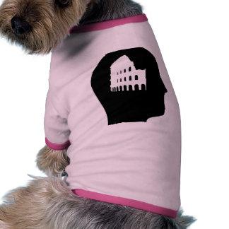 Pensamiento en latín camiseta de perro
