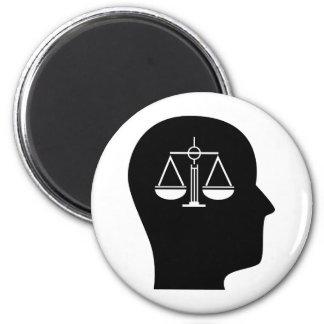 Pensamiento en ley imán redondo 5 cm