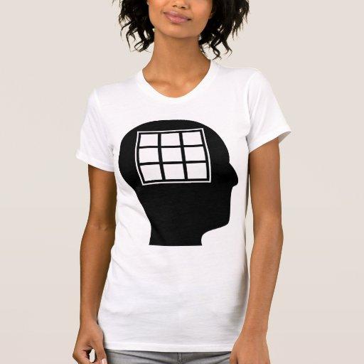 Pensamiento en los edredones camiseta