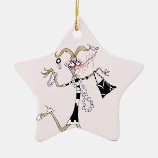 ¡pensamiento en mí! adorno navideño de cerámica en forma de estrella