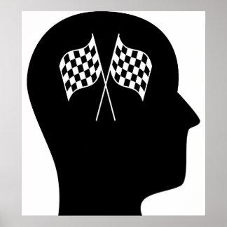 Pensamiento en NASCAR Poster