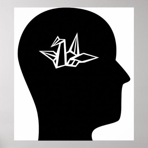 Pensamiento en Origami Poster