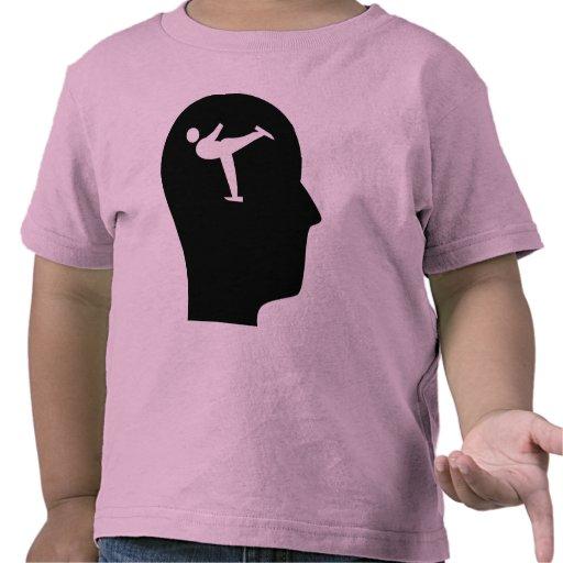 Pensamiento en patinaje artístico camisetas