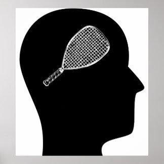 Pensamiento en Racquetball Posters