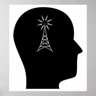 Pensamiento en radio aficionada póster