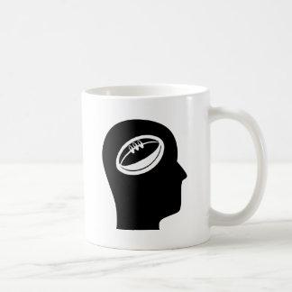 Pensamiento en rugbi tazas de café