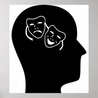 Pensamiento en teatro impresiones
