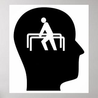 Pensamiento en terapia física impresiones