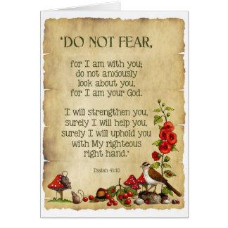 Pensamiento en usted: 41:10 de Isaías, arte Tarjeta De Felicitación
