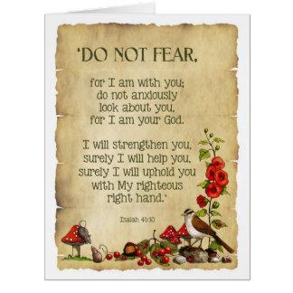 Pensamiento en usted: 41:10 de Isaías, arte Tarjeta De Felicitación Grande