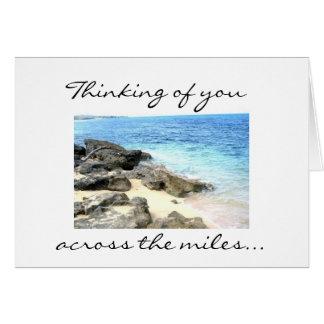 Pensamiento en usted a través de la tarjeta de las