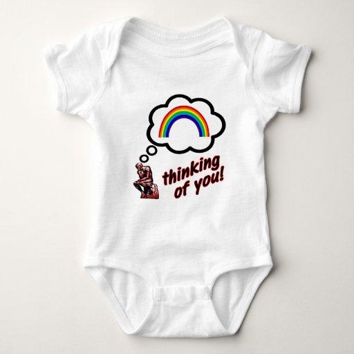 Pensamiento en usted arco iris playeras