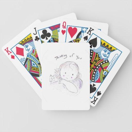 Pensamiento en usted (ascendentes cercanos) baraja cartas de poker