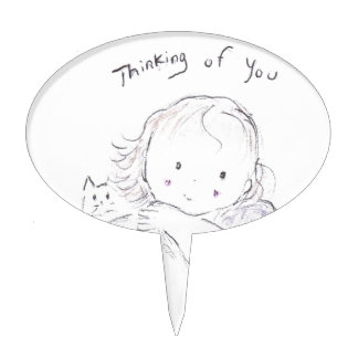 Pensamiento en usted (ascendentes cercanos) decoración de tarta
