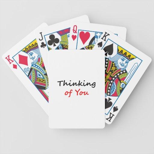 Pensamiento en usted baraja cartas de poker