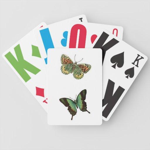 Pensamiento en usted barajas de cartas