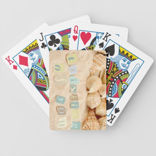 Pensamiento en usted de la playa cartas de juego