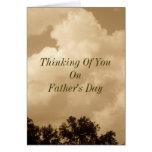 Pensamiento en usted el el día de padre tarjeton