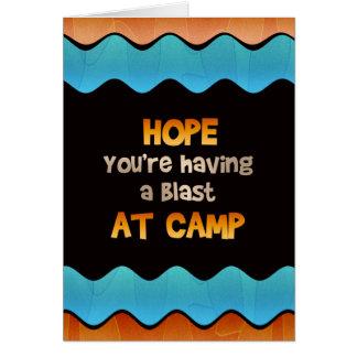 Pensamiento en usted en la tarjeta del campamento