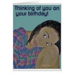 Pensamiento en usted en su tarjeta de cumpleaños