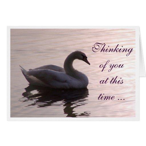 Pensamiento en usted… felicitación