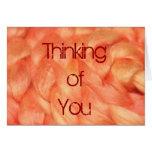 Pensamiento en usted felicitaciones