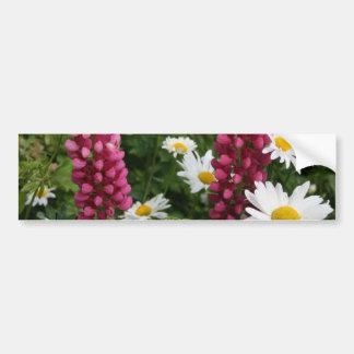 Pensamiento en usted flores florales pegatina para auto