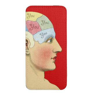 Pensamiento en usted funda acolchada para iPhone