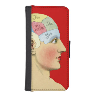 Pensamiento en usted funda tipo billetera para iPhone 5