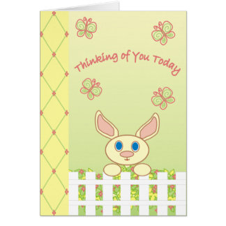 Pensamiento en usted hoy - tarjeta