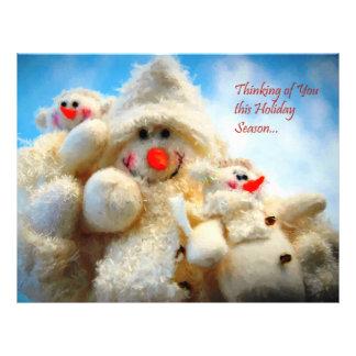 """Pensamiento en usted muñeco de nieve del navidad folleto 8.5"""" x 11"""""""