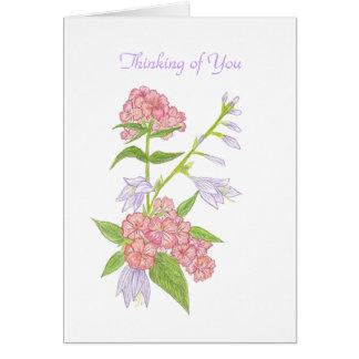 Pensamiento en usted notecard a personalizar tarjeta pequeña