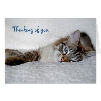 Pensamiento en usted notecard (espacio en blanco) tarjeta pequeña